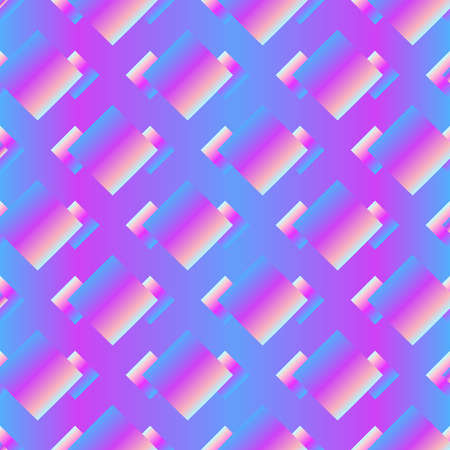 Abstract squares seamless pattern. Ilustração