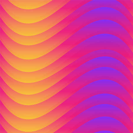 Warm color wave seamless texture.