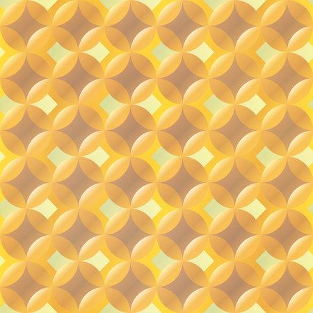 Yellow color bubbles seamless texture. Ilustração