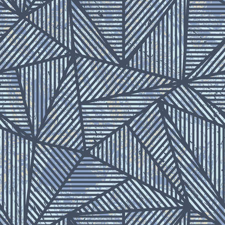 Blue grunge triangle pattern.