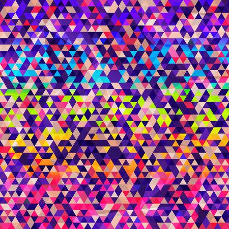 Rainbow color triangle seamless texture. Ilustração