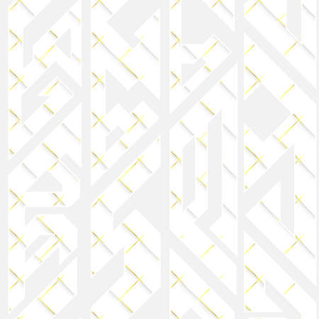 White geometric seamless pattern.