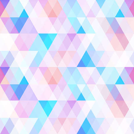 Pastel color mosaic. Seamless pattern.