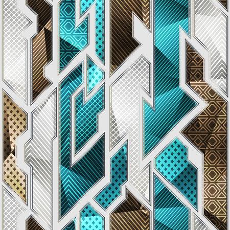 Cloth geometric seamless pattern.