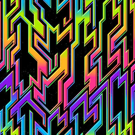 Space geometric pattern with space background.