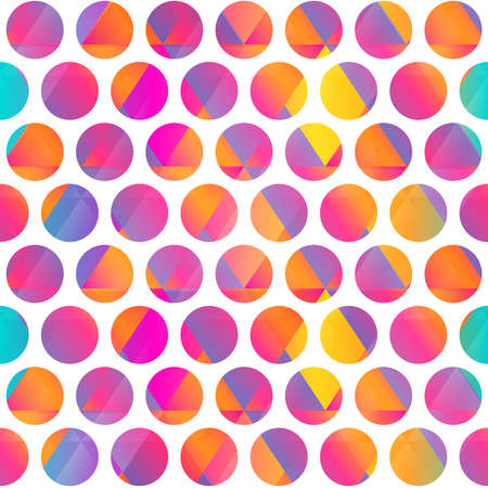 Bright color circle seamless pattern.