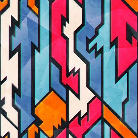 Bright geometric pattern.
