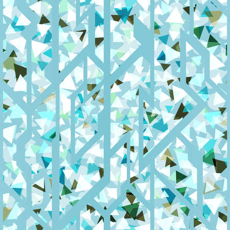 Ice triangles pattern.