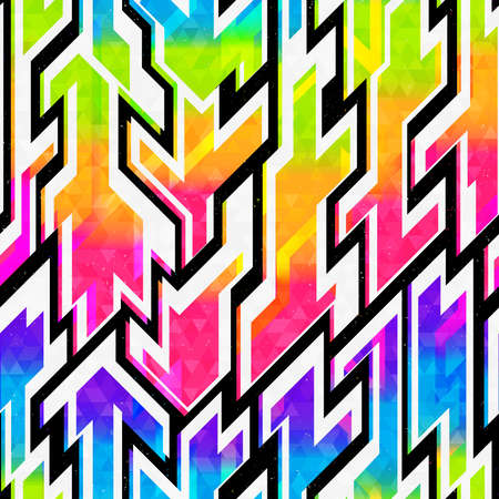 Space colored geometric seamless pattern.