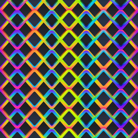 Neon color grid seamless pattern.