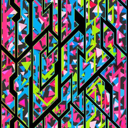 Colored geometric pattern with triangle texture. Ilustração
