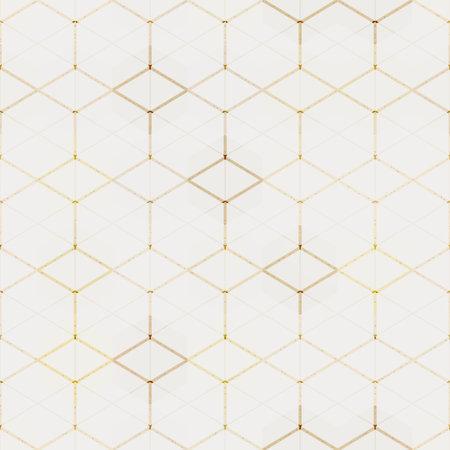 Grunge yellow mosaic seamless pattern. Ilustração