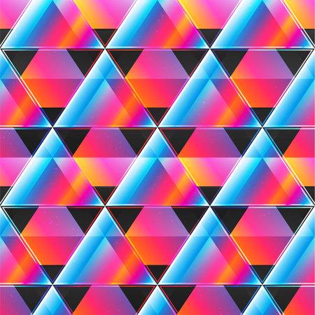 Neon triangle pattern. Ilustração