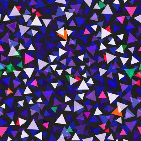 Triangle confetti seamless texture.