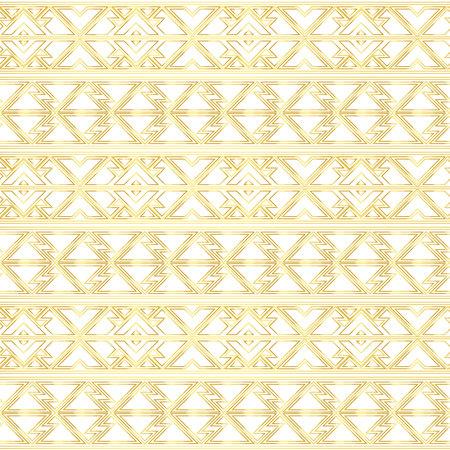 Gold border seamless pattern. Ilustração