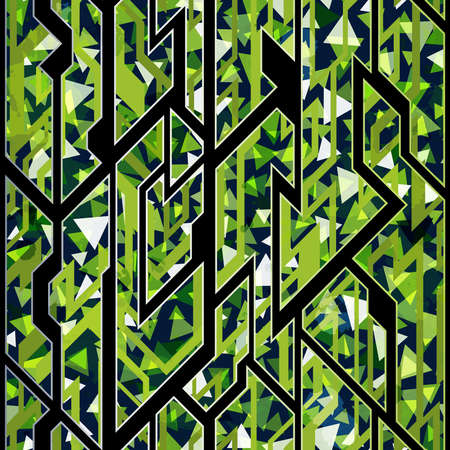 Green color geometric pattern.