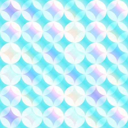 blue circle mosaic seamless pattern.