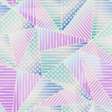Pastel color triangle pattern. Ilustração