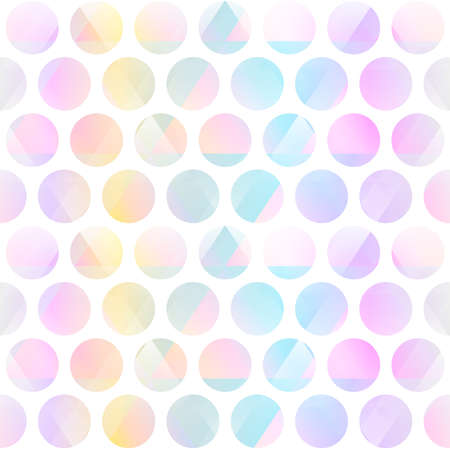 Pastel color circle seamless pattern.