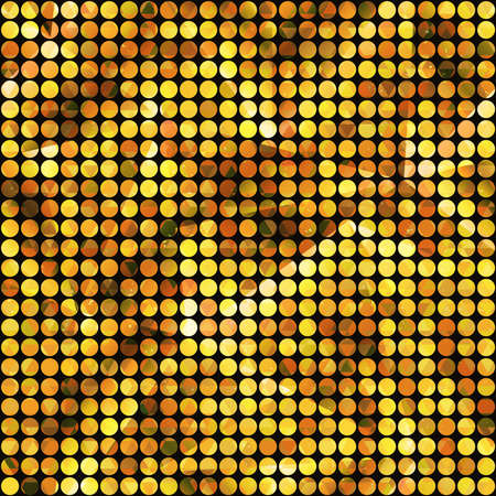 Gold light points seamless pattern.