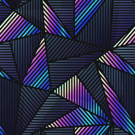 Tech triangle seamless pattern. Ilustração