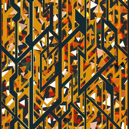 Retro geometric pattern. Ilustração