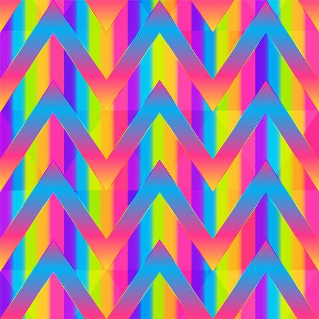 Rainbow color zigzag seamless pattern.