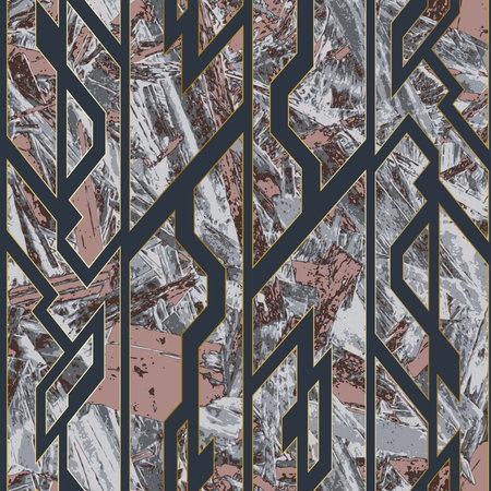 Stone geometric seamless pattern.