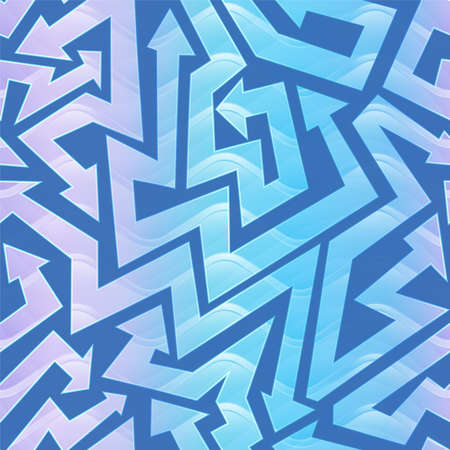 Wave color geometric arrow pattern.