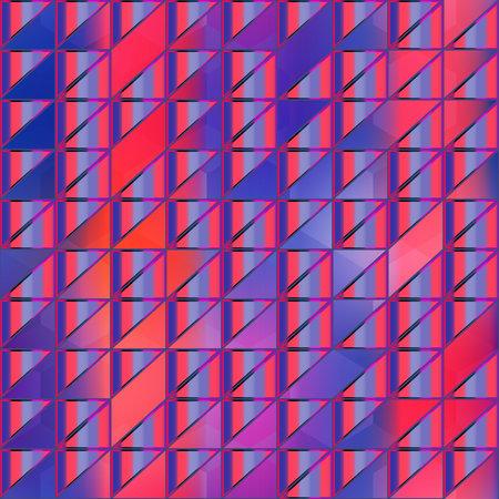Retro bright triangle seamless pattern. Ilustração