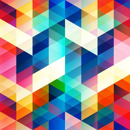 Retro color triangle seamless texture.
