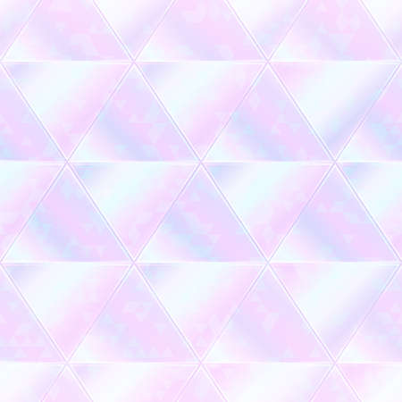 Pastel triangle seamless pattern with hologram effect.