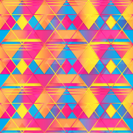 Warm color triangle seamless texture.