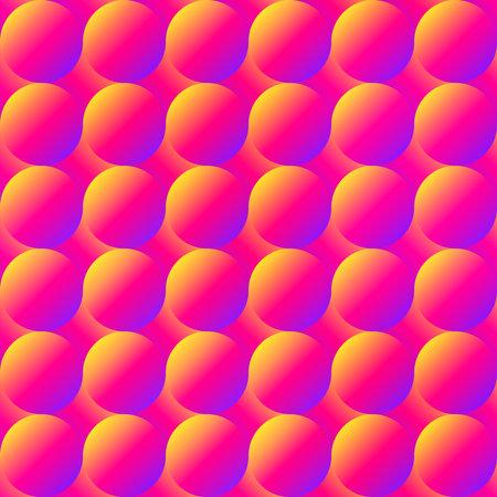 Warm color bubbles seamless pattern. Ilustração