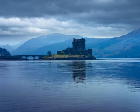 Eilan Donan castle in the Scottish Highlands, one of the most famous scottish castles, known from various movies photo
