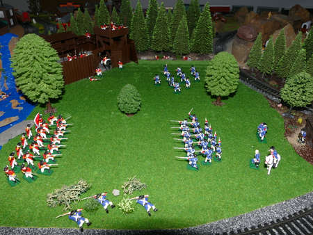 model scene of the american war of independence