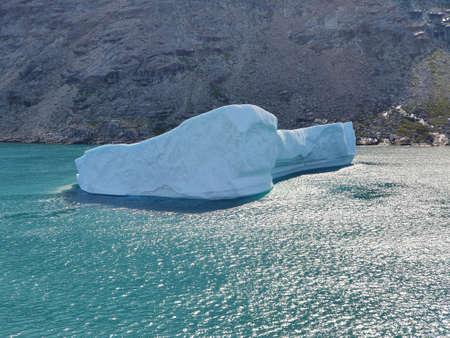 iceberg in the prince christian sund, greenland