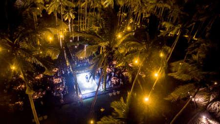 Wedding between palms in Acapulco Фото со стока
