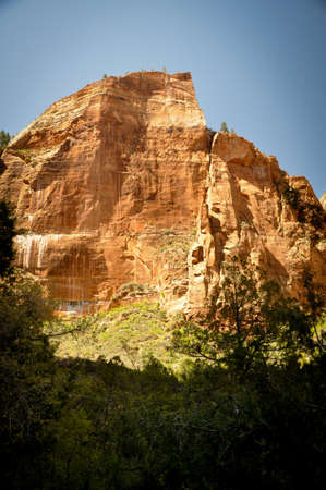 Cliff above Zion National Park Stock Photo