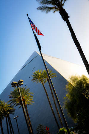 Pyramid in Front of a Great Hotel of Las Vegas Editorial