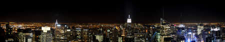 Manhattan seen since the roof of one of the highest building of New York by Night