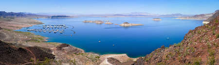 Blue Water of Lake Mead National Recreation Stock Photo