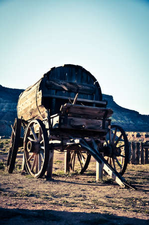 Old Wooden Cart in a Western Camp of the Death Valley
