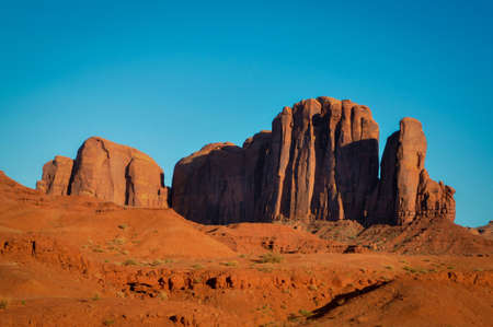 Big rock at the edge of the Track of Monument Valley Stock Photo