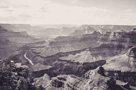 Beautiful View from the Top of Grand Canyon Archivio Fotografico