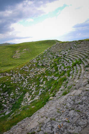 Old Greek Amphitheater Lost in the Middle of Nowhere