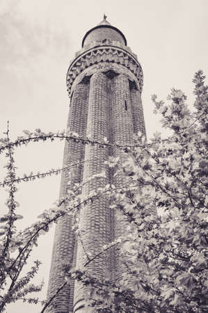 Magnificent Yivli Fluted Minaret of the Mosquee of Antalya Фото со стока