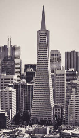 Transamerica Pyramid in the Financial District of San Francisco