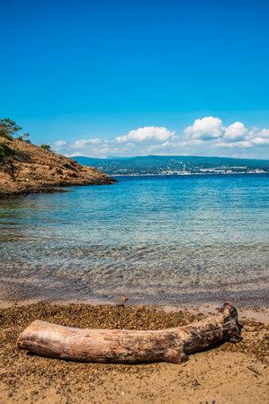 Peaceful Beach in Mugel Cove Stock Photo