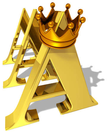 Aaa Rating Symbol With A Golden Crown Stock Photo Picture And